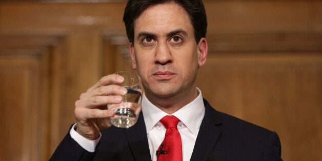 Ed Miliband speaks to the media and party supporters at One Great George Street in London, as he resigns...
