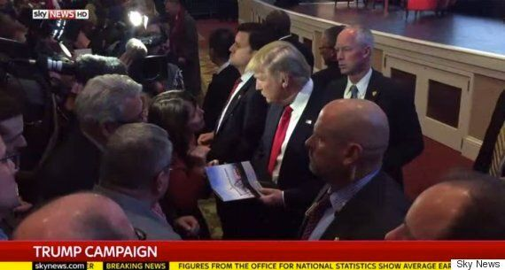 Donald Trump Tells Kay Burley He Has 'Tremendous Support' In Britain Despite 500,000 People Wanting Him