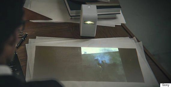 Sony's Tiny Short Throw Projector Turns Any Surface Into A