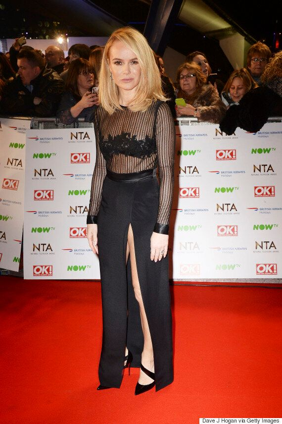 NTAs 2016: Amanda Holden Rocks The National Television Awards Red Carpet In Stunning Black Dress (With...