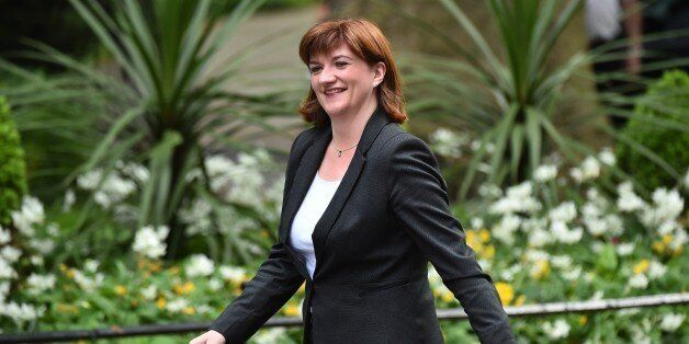 Conservative member of parliament Nicky Morgan arrives for a meeting at 10 Downing Street in central...