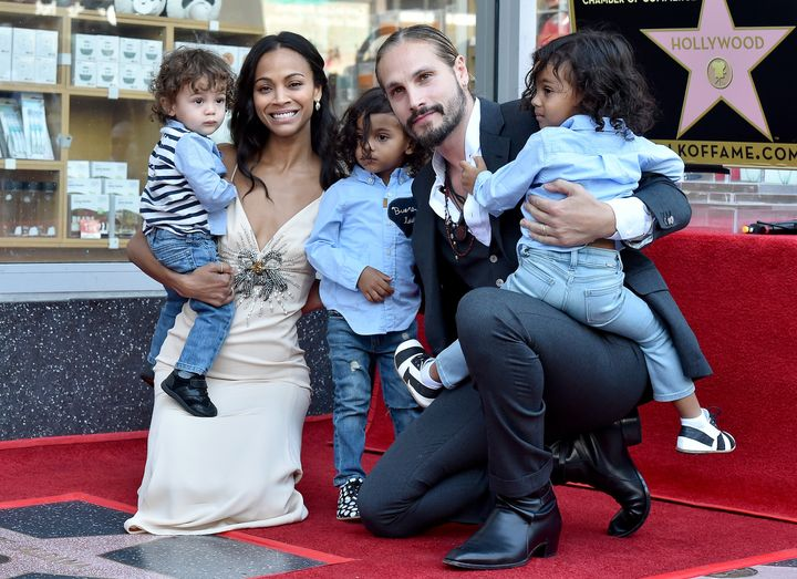 Zoe Saldana has three sons with her husband, Marco Perego-Saldana.