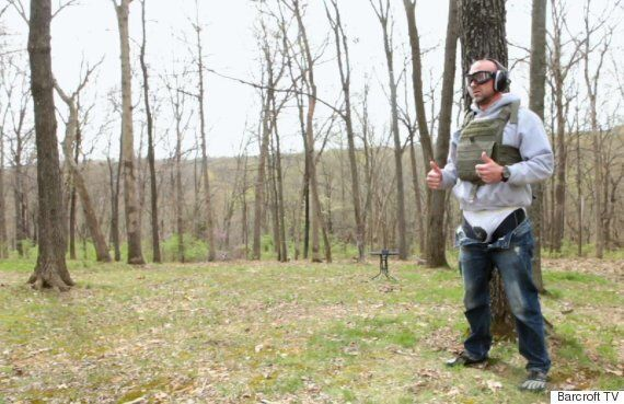 Watch This Guy Test An Experimental Bulletproof Groin