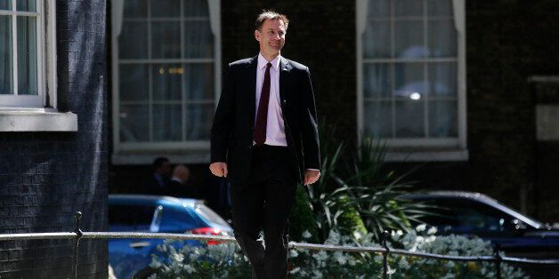 Jeremy Hunt, U.K. health secretary, arrives for the first weekly cabinet meeting of the new Conservative...