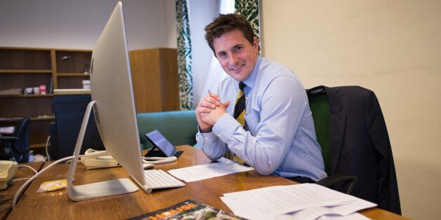 Plymouth MP Johnny Mercer at his office at the Houses of Parliament in London before making his first...
