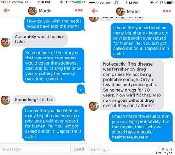 Martin Shkreli Gets Decision To Hike AIDS Drug Prices Brutally Demolished By Tinder