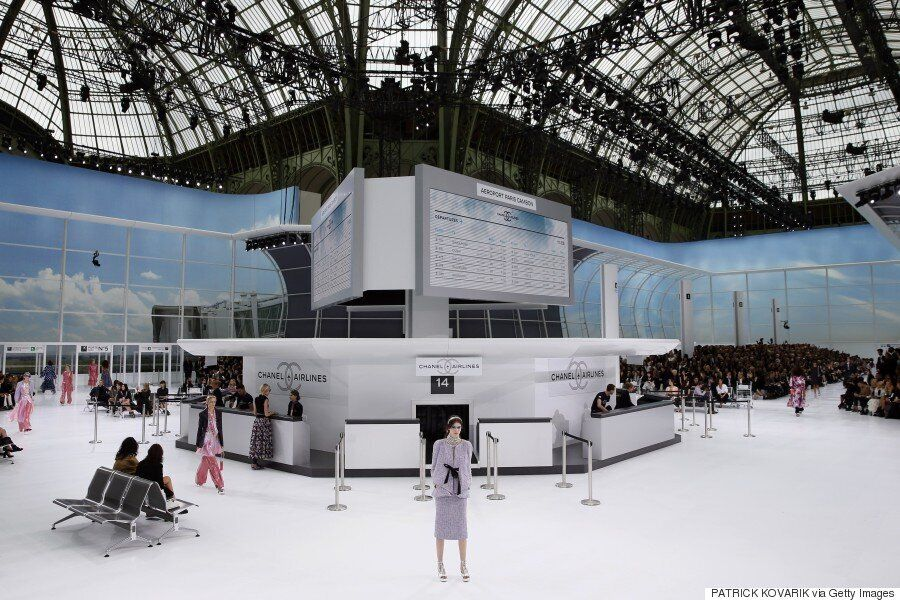 Boarding Now For Chanel Airlines! Chanel Unveils Incredible Catwalk At Paris Fashion Week