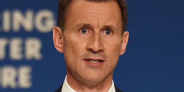 File photo dated 30/09/14 of Health Secretary Jeremy Hunt who is expected to say it is shocking that...