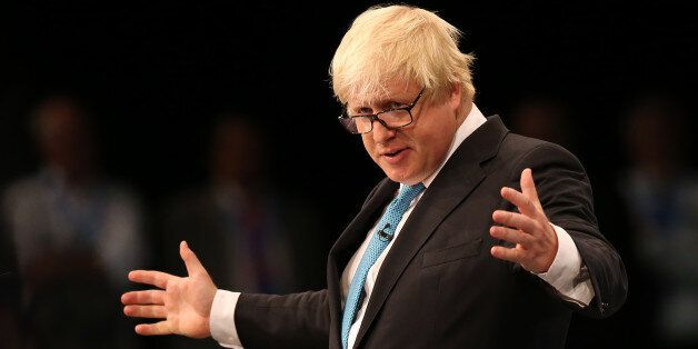 Boris Johnson, MP for Uxbridge, delivers his speech to the Conservative Party conference at Manchester