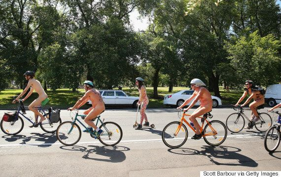 World Naked Bike Ride Event Disrupted By 'Overexcited' Cyclist With