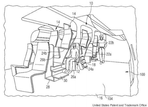 Airbus' Patent For New Seating Arrangement Will Pile Passengers On Top Of Each