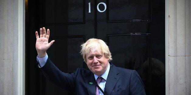 LONDON, ENGLAND - MAY 11: London Mayor and MP for Uxbridge and South Ruislip, Boris Johnson, arrives...