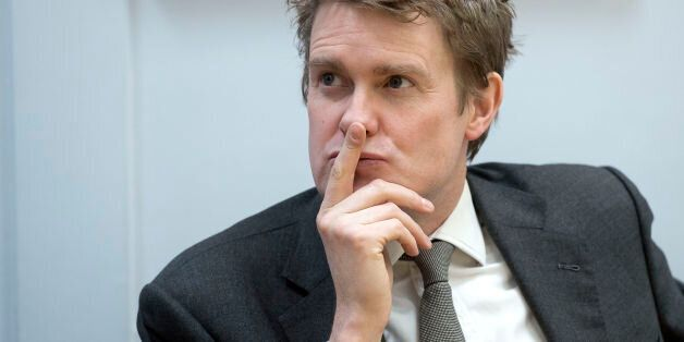 Shadow Education Secretary Tristram Hunt during a visit to Little Ilford School, London, where he launched...