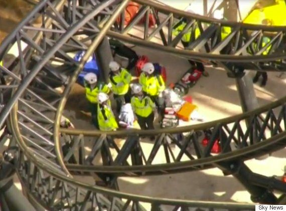 Alton Towers Rollercoaster Crash Leaves Four Seriously Injured On The Smiler
