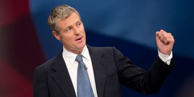London mayoral candidate Zac Goldsmith addresses delegates in the third day of the Conservative Party...
