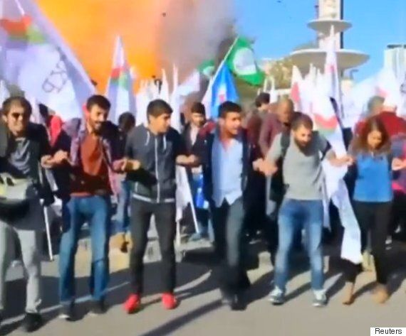 Ankara Explosion: Video Shows Exact Moment Turkish Peace Rally Became A Terrorist