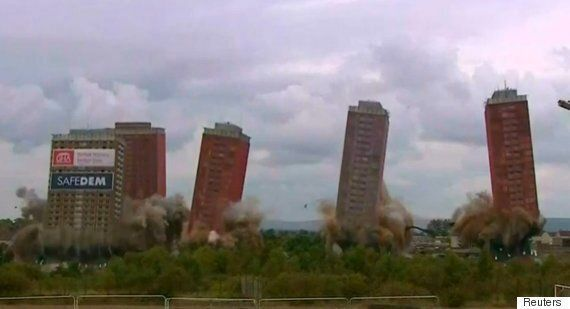 Glasgow's Red Road Flats Demolished In Plans To Regenerate