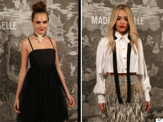 Chanel Mademoiselle Prive Saatchi Gallery Launch: Cara Delevingne and Rita Ora Toughen Up Tulle And