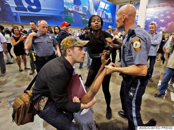Donald Trump Rally Turns Violent As Supporters Clash With Anti-Racism