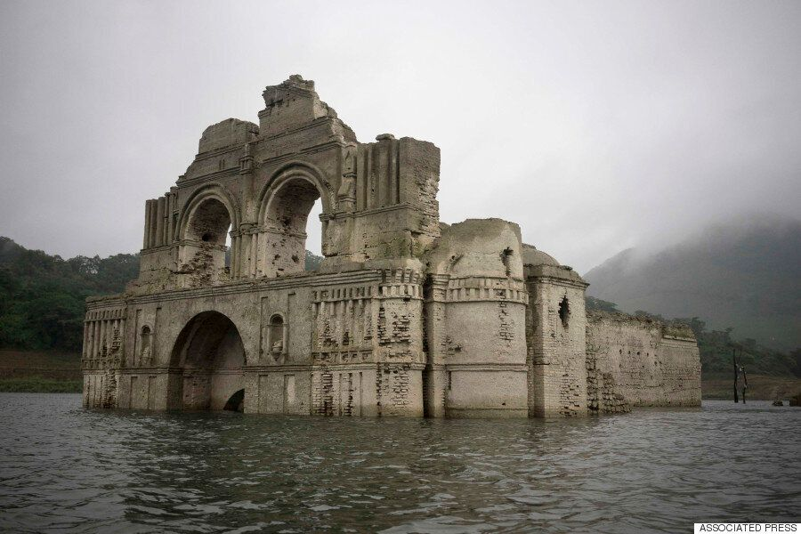 Mexico Drought Sees 400-Year-Old Church Emerge From Reservoir In