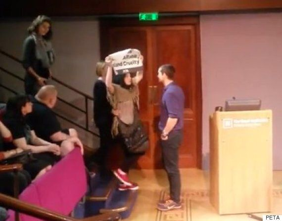 Bear Grylls Royal Institution Talk Interrupted By PETA Supporters, Protesting About Claims Of Animal...