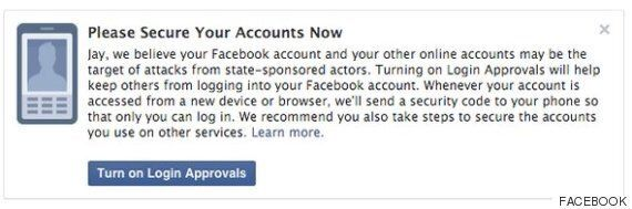 Facebook's New Notifications Warn Users When Governments Are Spying On