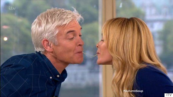 Amanda Holden And Phillip Schofield Have A 'Lady And The Tramp' Moment On 'This Morning'