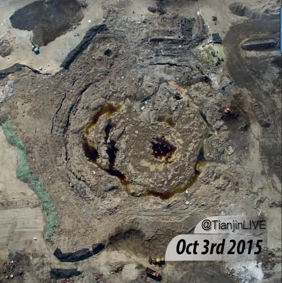 Tianjin Blast: Monumental Clean Up Of Disaster Caught In Astonishing Drone