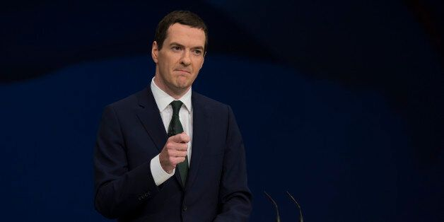 Britain's Chancellor of the Exchequer George Osborne speaks during the Conservative Party Conference,...