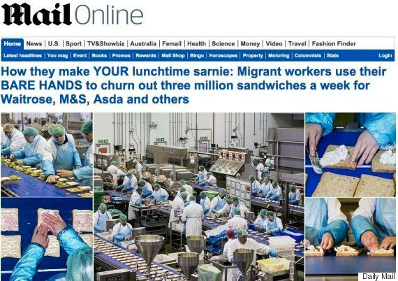 Daily Mail Story On Bare-Handed Migrants Making Sandwiches Is Causing