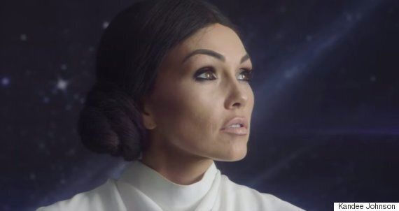 Kim Kardashian Halloween Costume Ideas: Princess Leia Makeup