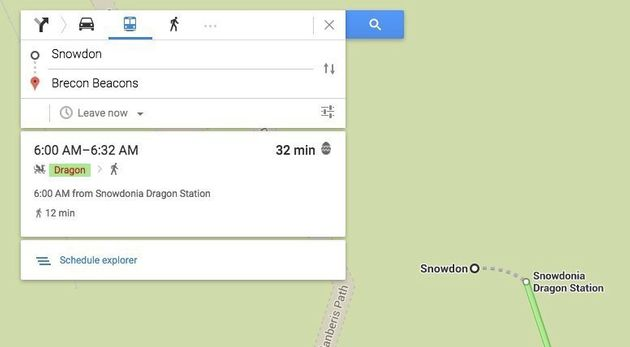 Google Maps Now Offers Dragon And Loch Ness Monster As Transport