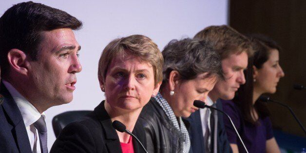 Andy Burnham, Yvette Cooper, Mary Creagh, and Liz Kendall (LEON NEAL/AFP/Getty