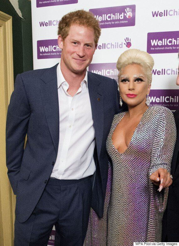 Lady Gaga Meets Prince Harry At London WellChild Gig... But The Royal Appears Distracted By Her Low-Cut