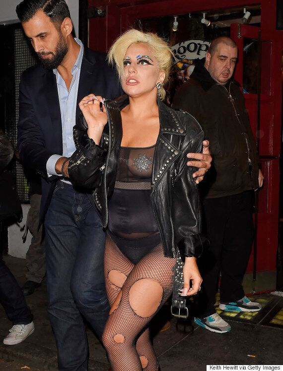 Lady Gaga Ditches Demure Look For Something Much More Revealing On London Night Out After Cancelling...
