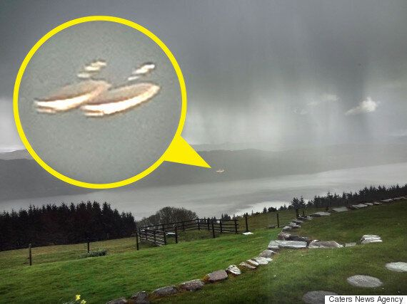 UFOs Pictured Hovering Over Scotland's Loch