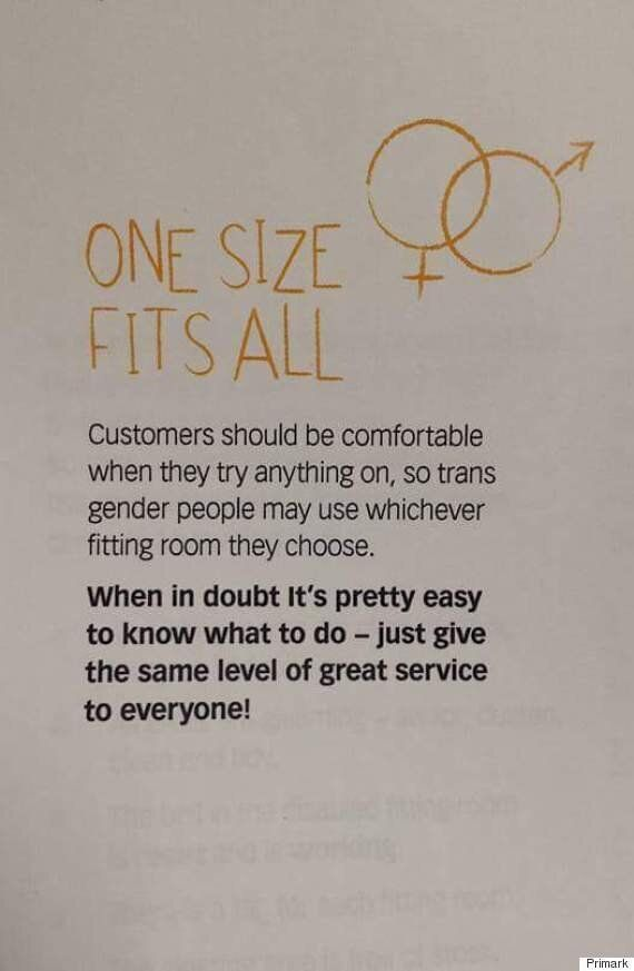 Primark Lets Transgender Customers Use Whichever Fitting Room They Feel Most Comfortable
