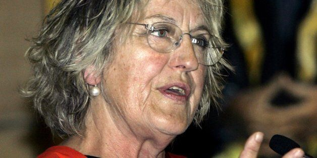 Germaine Greer speaks after she was presented with an Honorary Degree in the great hall of the Sydney...