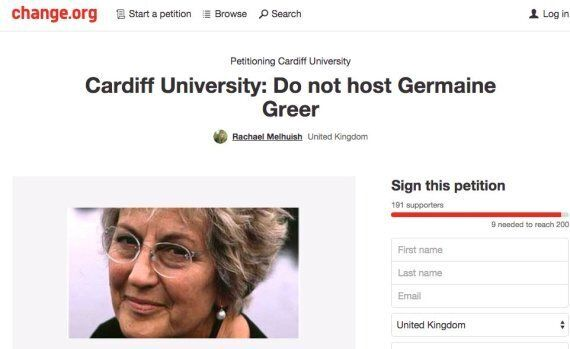A Group Of Students Really Don't Want 'Dangerous' Germaine Greer To Speak At Cardiff