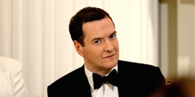 George Osborne at the annual 'Lord Mayors Dinner to the Bankers and Merchants of the City of London'...