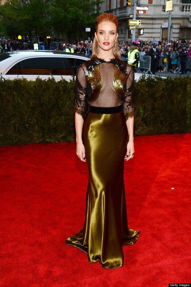 Supermodel Style: Rosie Huntington Whiteley &Amp; Cara Delevingne Strike A Punk Pose At Met