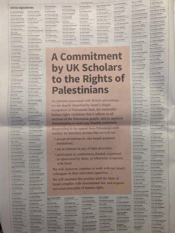 Israeli Universities Boycotted By 343 British Academics, Critics Slam Move As
