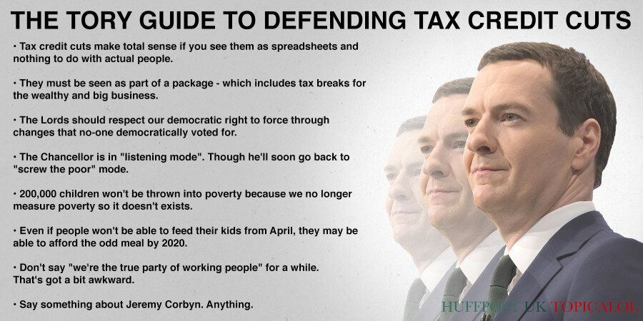 The Tory Guide To Defending Tax Credit