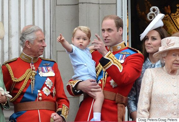 Trooping The Colour Sees Prince George Steal The Show At The Queen's Official