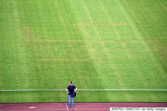 Swastika Appears On Football Pitch During Croatia V Italy Match In