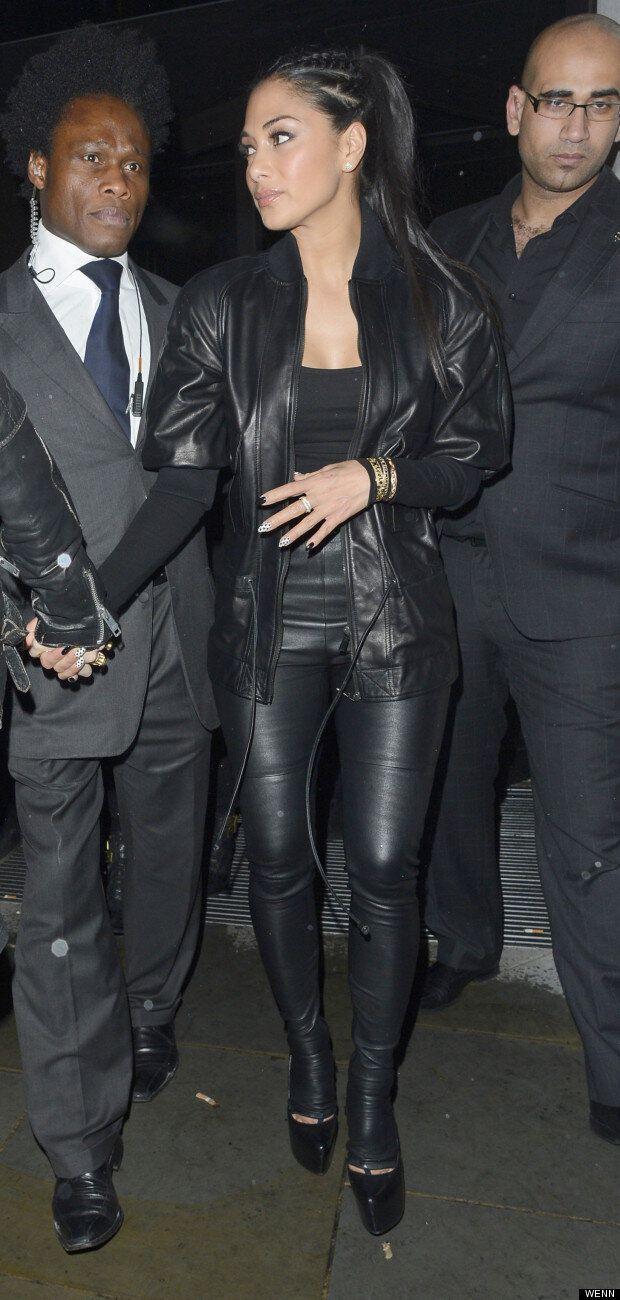 Nicole Scherzinger Is FIERCE In Leather For Night Out In