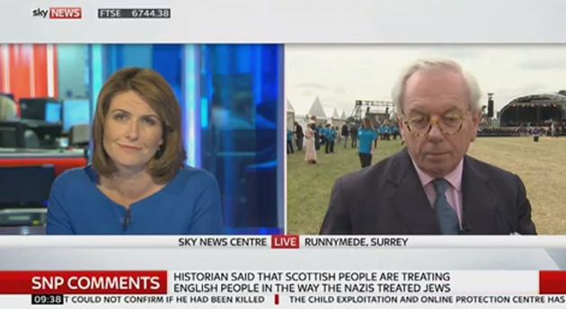 David Starkey Defends Comparing The SNP To The Nazis, Insists There Are 'Striking'