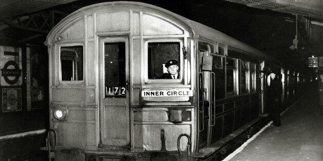 Transport, London Underground Trains, pic: circa 1940's, A London Underground train, of long service,...