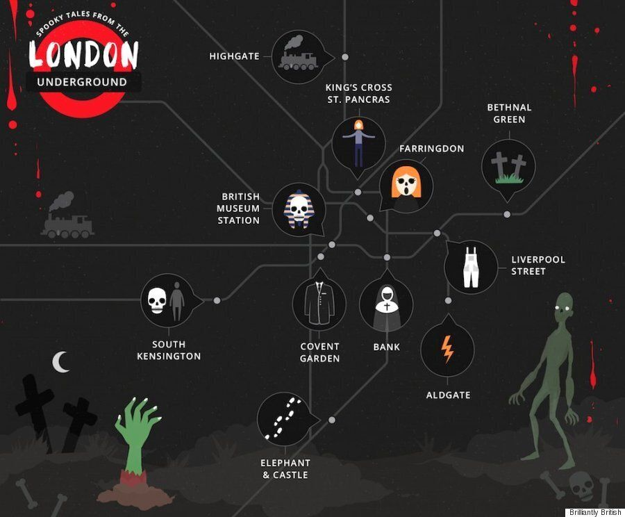 London Underground Tube Map Reveals The Most Haunted