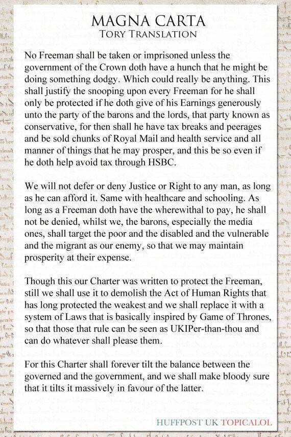 Magna Carta: The Tory